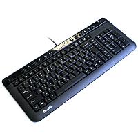 Клавиатура KLS-40-R USB Black, X-slim Rus+Ukr. K/b Черная.13 горячих к