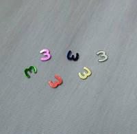 Цифра 3 размер 6 мм Цифры разного цвета  арабские