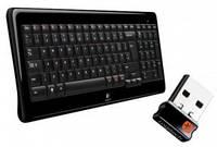 Клавиатура Logitech K340 RUS; USB; 2,4 ГГц; 10 м; (920-003169)