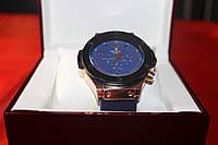 Мужские часы Hublot в синем цвете