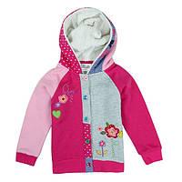Детская утепленная кофта для девочки с капюшоном