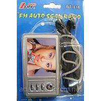 Радио BT-816; FM 88-108Mhz; auto scan; 2AA; FlashLignt
