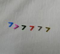 Цифра 7 размер 6 мм Цифры разного цвета  арабские