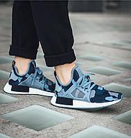 Кроссовки женские Adidas NMD XR1 Camo Pack blue, фото 1