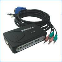 Переключатель CPU Viewcon VE252, USB, с комплектом кабелей