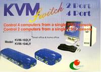 Переключатель KVM DL-104  (1 монитор на 4 компьютера)