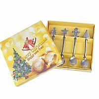 Комплект десертных ложек Новогодний 4 шт, фото 1