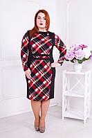 Платье большого размера Стефани черное
