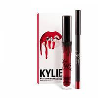 Матовая помада Kylie Jenner + карандаш для губ