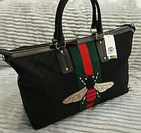 Модная дорожная сумка Gucci Гуччи черная