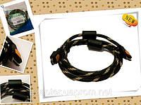 Кабель TT824.20 HDMI to HDMI 20м никелевый 28AWG 1.3b OD OD BK&Golden