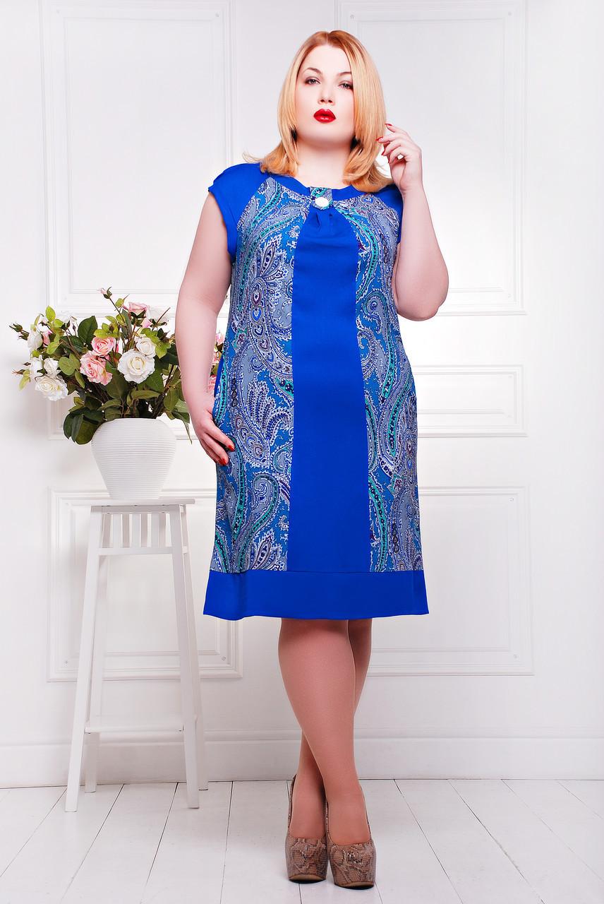 Платье большого размера Вирджиния - Wellness-sistem - интернет магазин одежды и обуви украинского производителя в Харькове