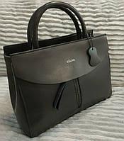Кожаная сумка Celine Селин цвет серый