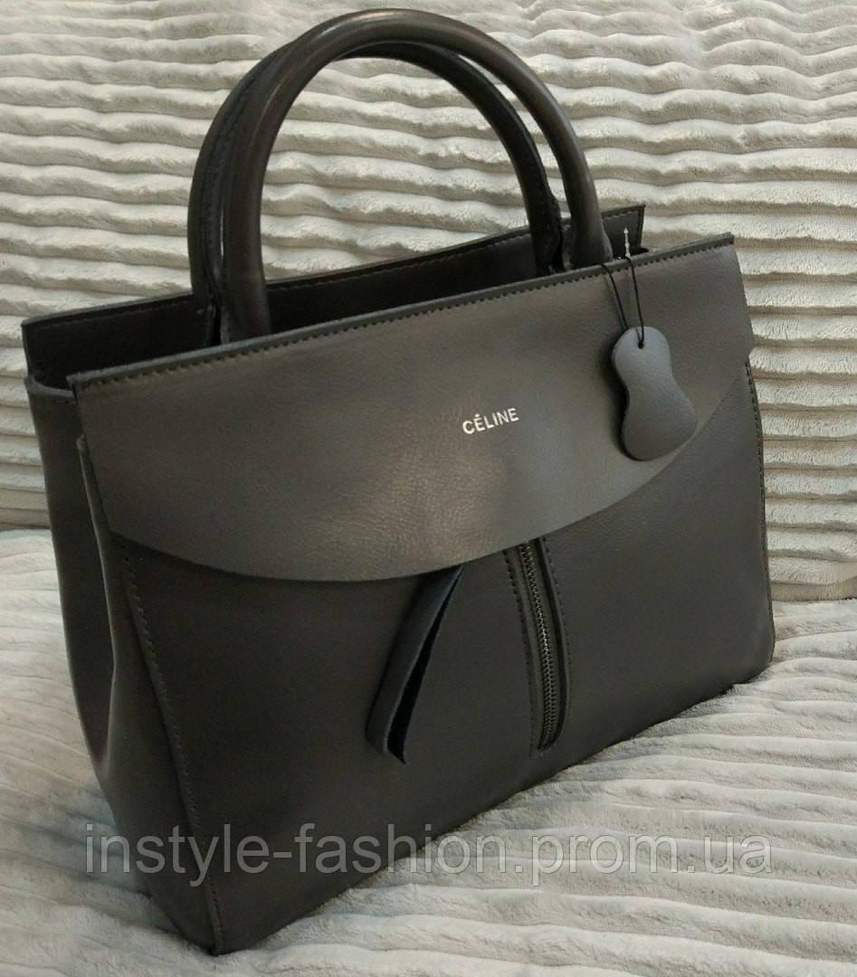 109c51f70199 Кожаная сумка Celine Селин цвет серый - Сумки брендовые, кошельки, очки,  женская одежда
