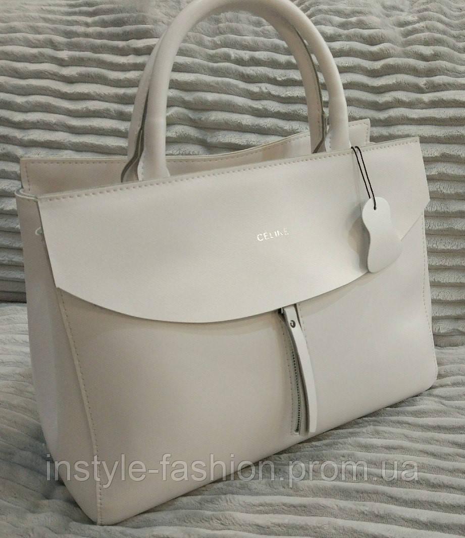 03b991878ce5 Кожаная сумка Celine Селин белая: купить недорого копия продажа ...