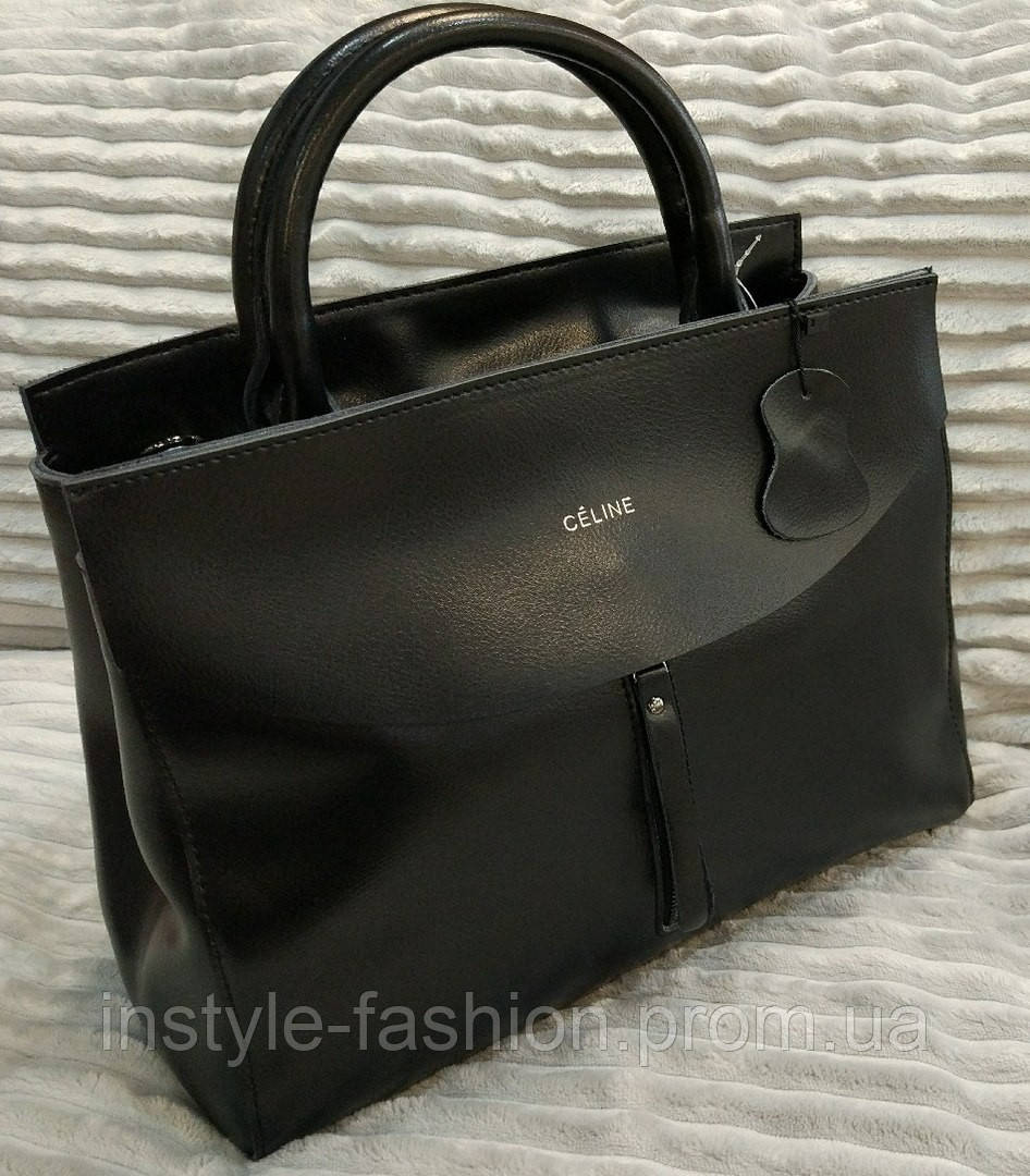 a5418f21237f Кожаная сумка Celine Селин черная: купить недорого копия продажа ...