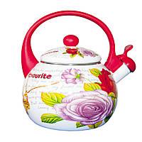 Эмалированный чайник со свистком 2,2 л. (11-1)