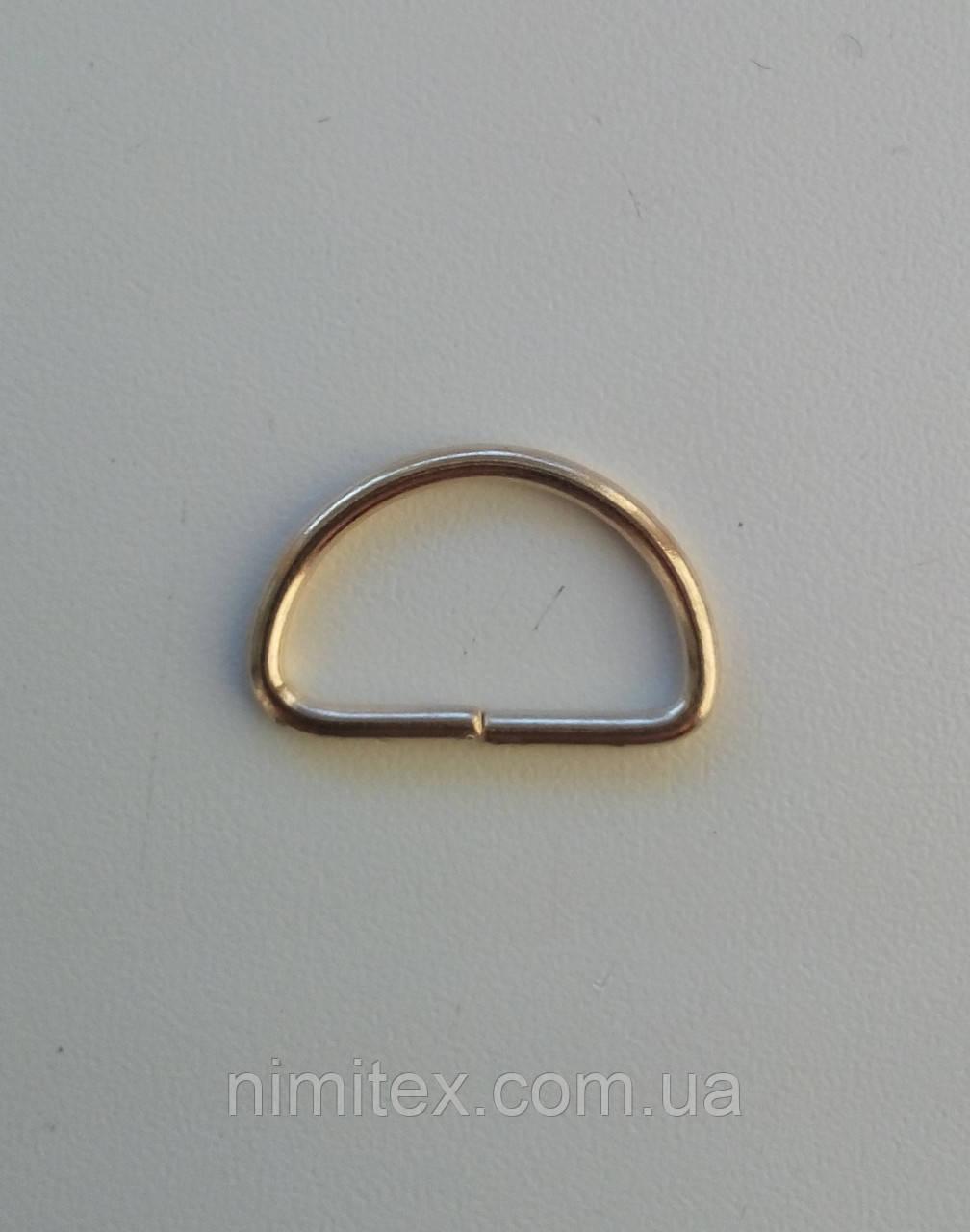 Полукольцо проволочное 21 мм золото