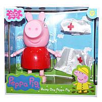 Игрушка свинка Пеппа с одеждой врача