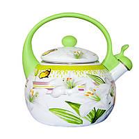 Эмалированный чайник со свистком 2,2 л. (11-2)