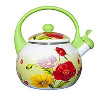 Эмалированный чайник со свистком 2,2 л. (11-3)