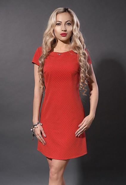 Коралловое молодежное платье