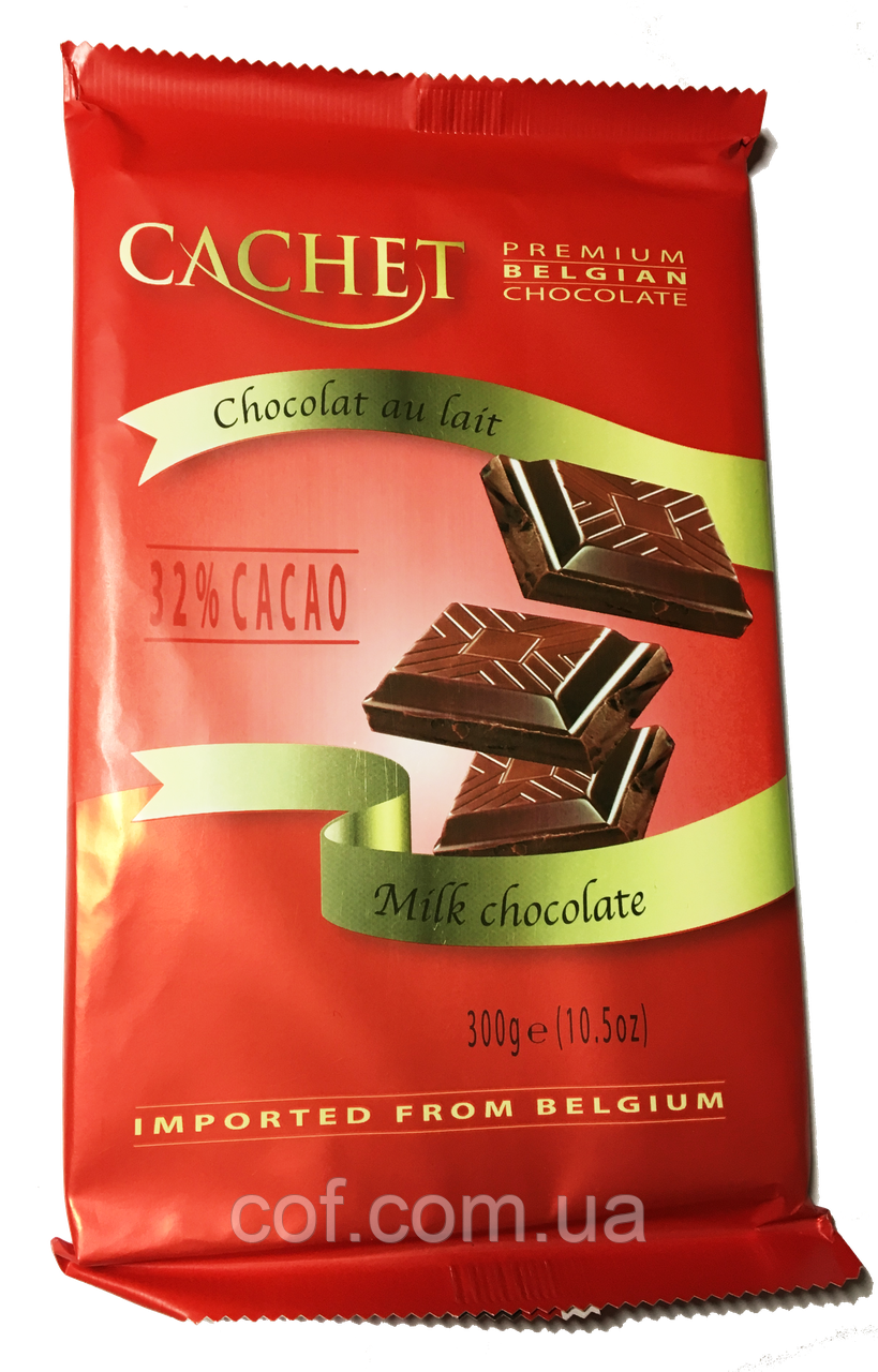 Шоколад молочный Cachet Milk Chocolate 300г (Бельгия)