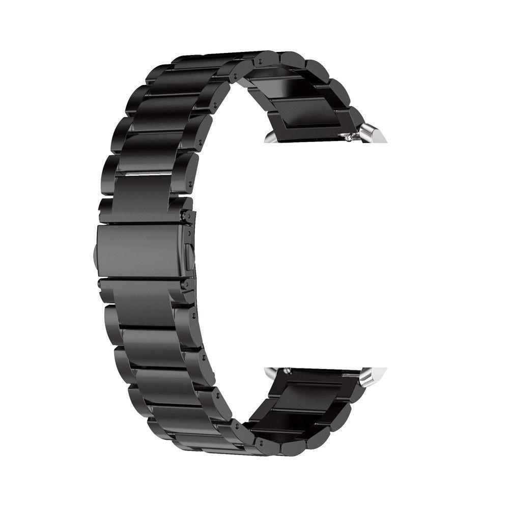 Браслет для часов из нержавеющей стали, литой, черный, мат. Samsung Gear S3 Classic Frontier. 22 мм