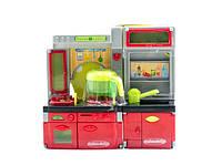 Игрушечная музыкальная Кухня xs 14015 с посудой 23-25-7,5см на батарейках 26-27-10см