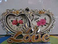 Рамка часы сердечко
