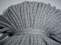 Шнур хлопковый 5мм диаметр серый, фото 1