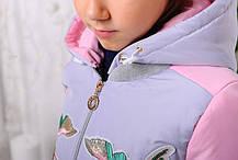 Демисезонная куртка для девочки «Птички», минт, фото 3