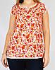Блузка белая с красной вышивкой, 44-50 размеры
