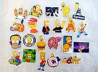 """Подборка """"Симпсоны"""", наклейки стикеры на ноутбук, велосипед, скутер (081)"""