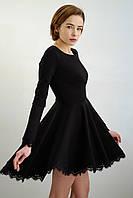 Платье из трикотажного полотна джерси и кружева шантильи. Удобство в уходе за нашими изделиями.