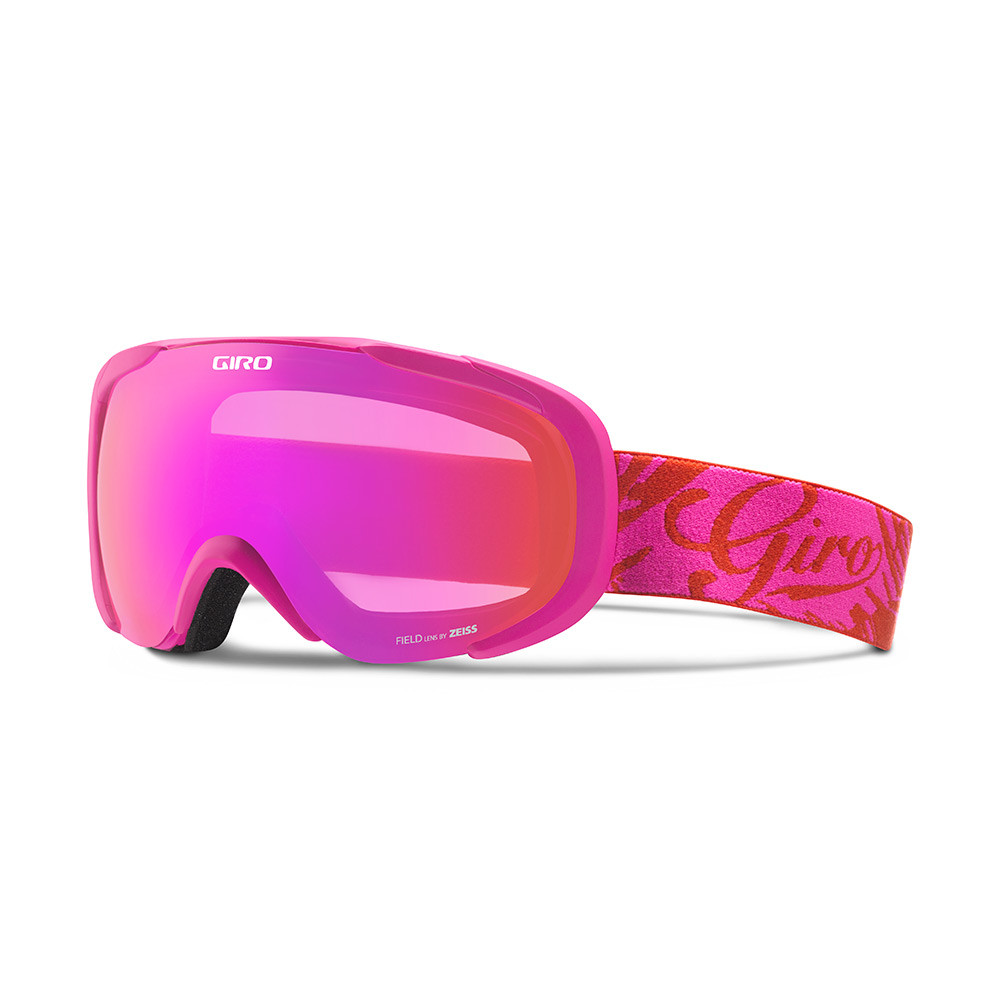 Горнолыжная маска Giro Field Flash Magenta/красная Tropical, Zeiss, Amber Pink 37% (GT)