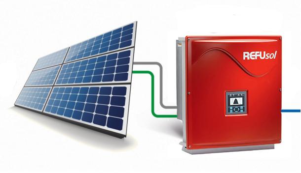 Сетевая солнечная станция на инверторах REFUsol, 20 кВт