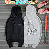 Худи Ripndip черное, серое с логотипом, унисекс (мужское, женское, детское) - Фото