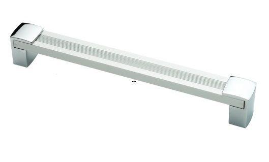 Ручка мебельная Ozkardesler 14.438-03/06 ALM CIZGILI BURC BOY KULP 128мм Матовый Хром-Хром