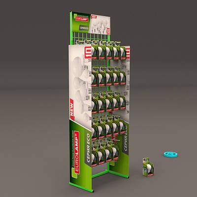 Стойка Евроламп с брендированием 25 крючков