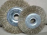 Щётки 125*22 на болгарку по металлу мягкие плоские