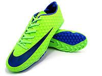 Футбольные сороконожки Nike Mercurial Victory TF Green/Blue/Black, фото 1