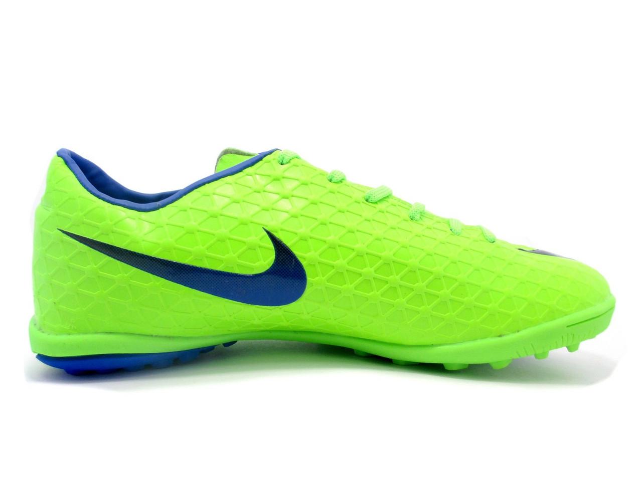 Футбольные сороконожки Nike Mercurial Victory TF Green/Blue/Black