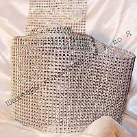 Лента декоративная серебро 6см