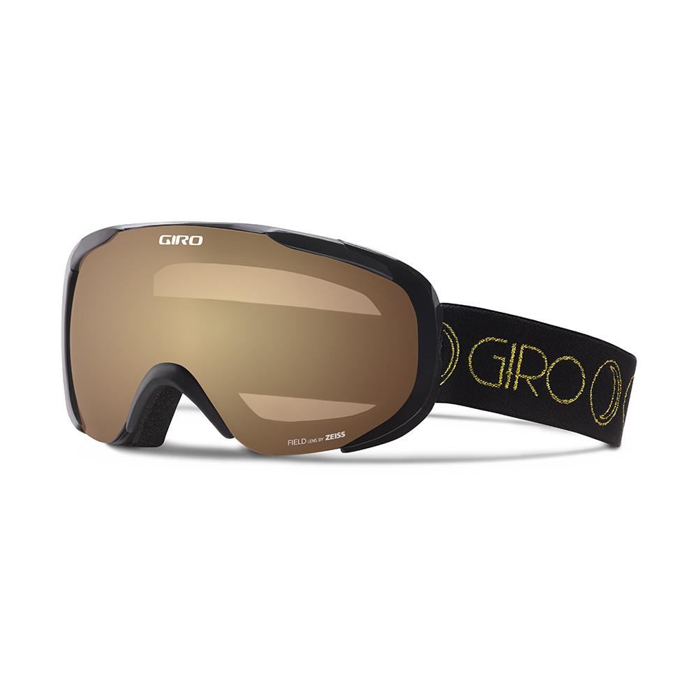 Горнолыжная маска Giro Field Flash чёрная/золотая Moon Phase, Zeiss, Amber Gold 23% (GT)