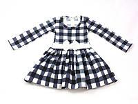 Платье детское в клетку трикотаж