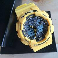 Чоловічий наручний годинник Casio G-Shock (Касіо Джі Шок) – жовті