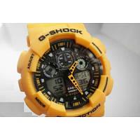Спортивные мужские часы Casio G-Shock желтые