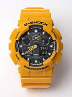 Спортивные наручные часы Casio G-Shock желтый цвет