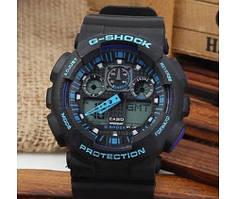 Наручний годинник Casio G-Shock (Касіо Джі Шок) – чорно-сині